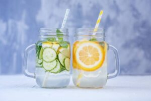 hydrating with infused waters