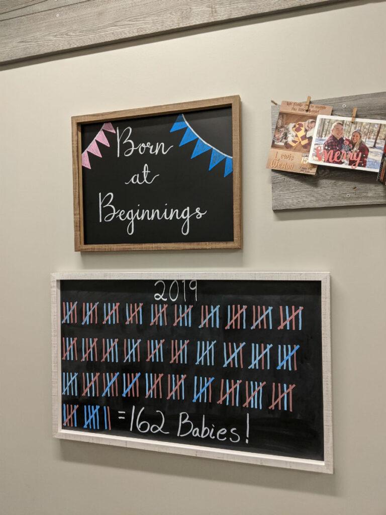 Statistics for Beginnings Birth Center's 1st Year